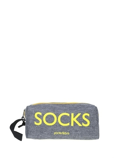 Pixter&Bro Pixter&Bro 6'lı Çanta Hediyeli Çorap Siyah